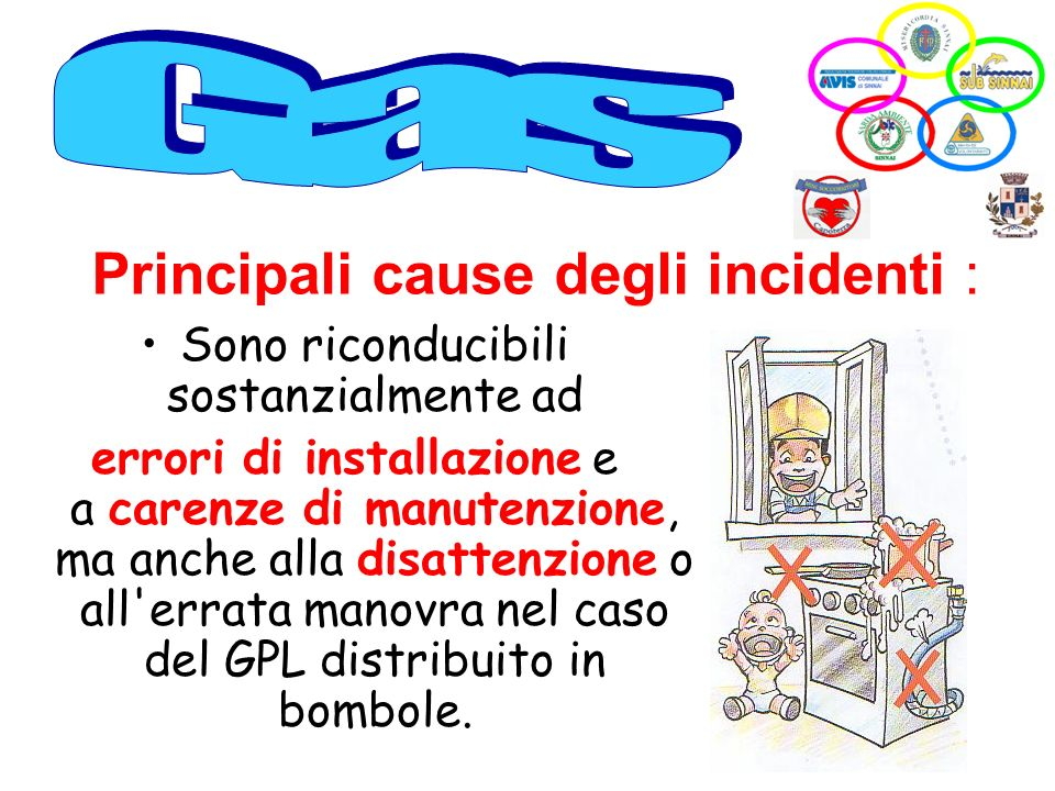 Principali cause degli incidenti :