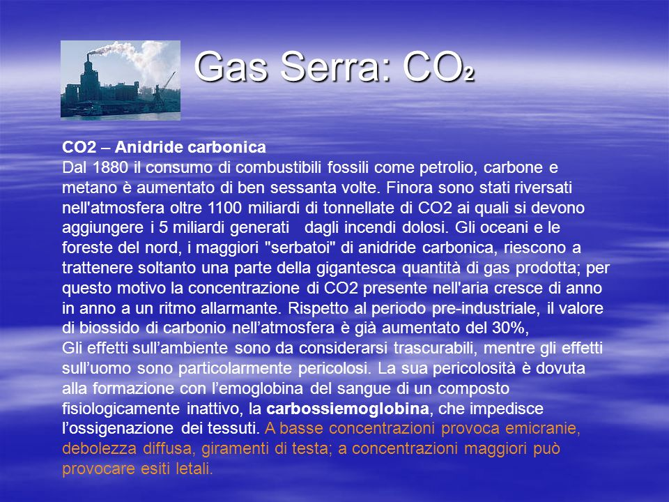Gas Serra: CO2