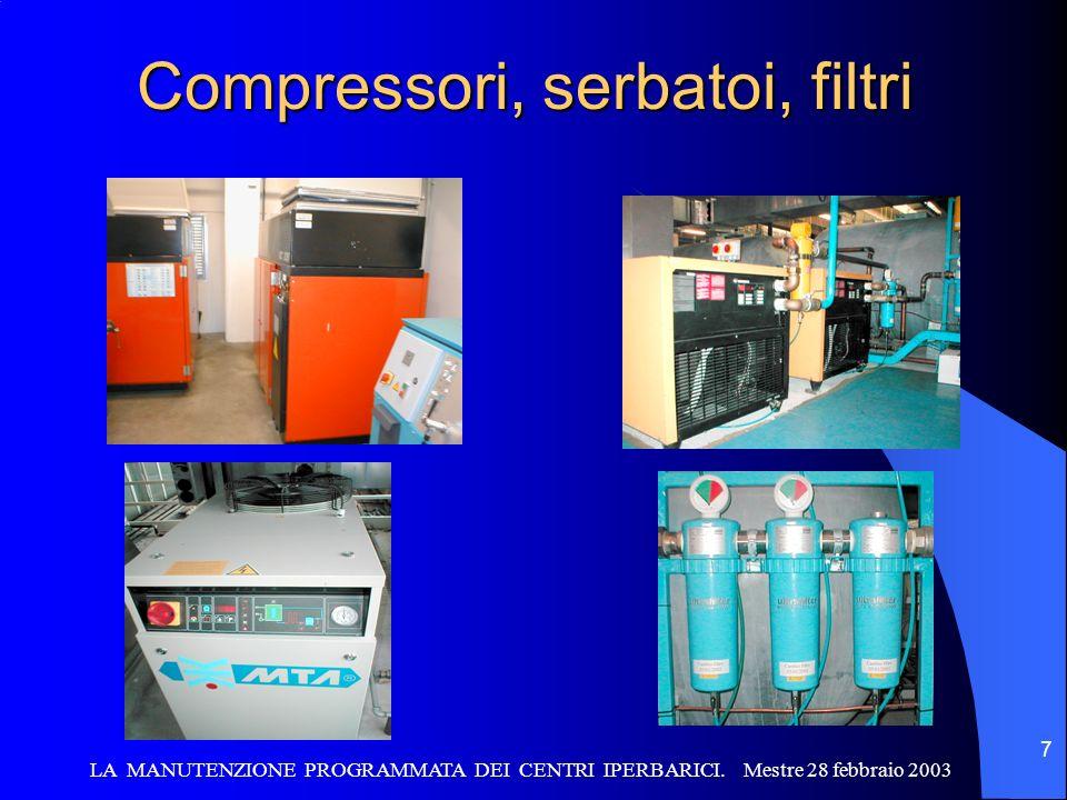Compressori, serbatoi, filtri