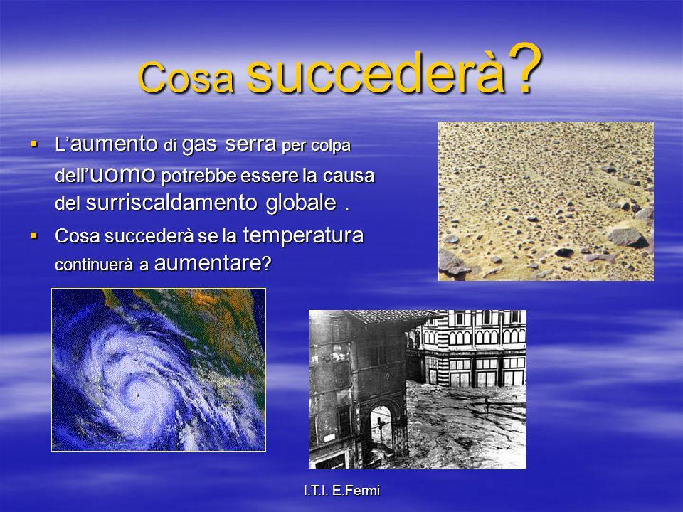Cosa succederà L'aumento di gas serra per colpa dell'uomo potrebbe essere la causa del surriscaldamento globale .