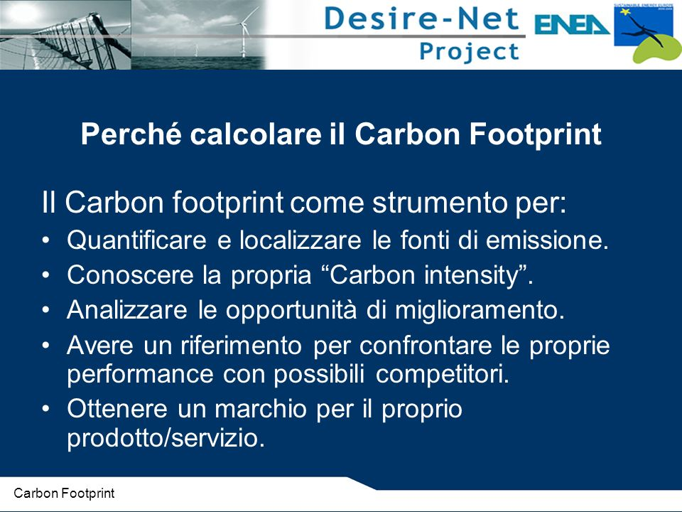 Perché calcolare il Carbon Footprint