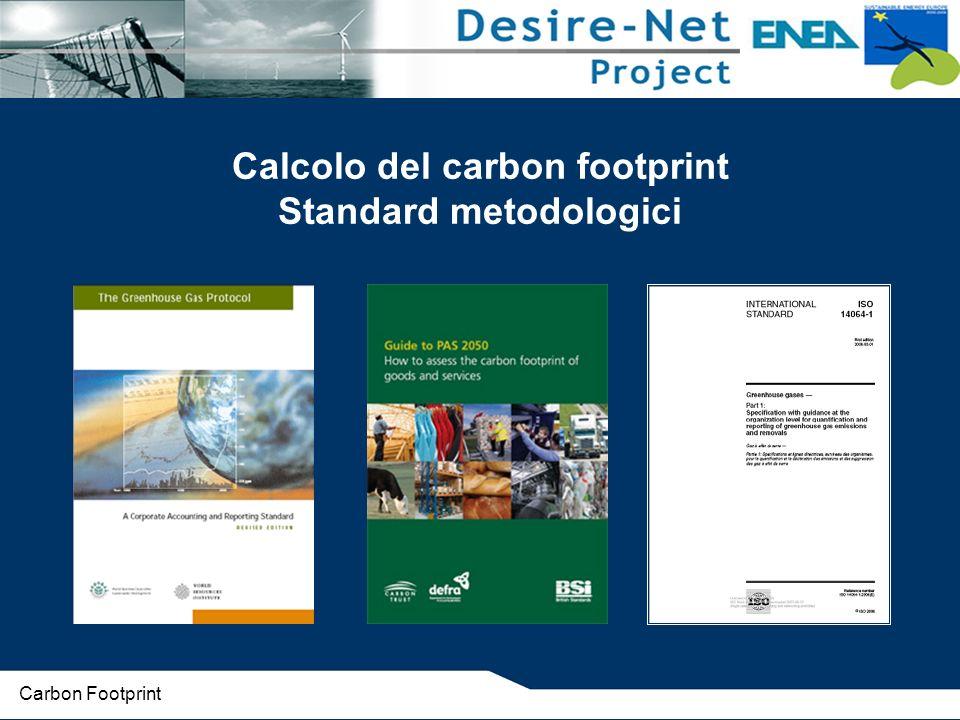 Calcolo del carbon footprint Standard metodologici