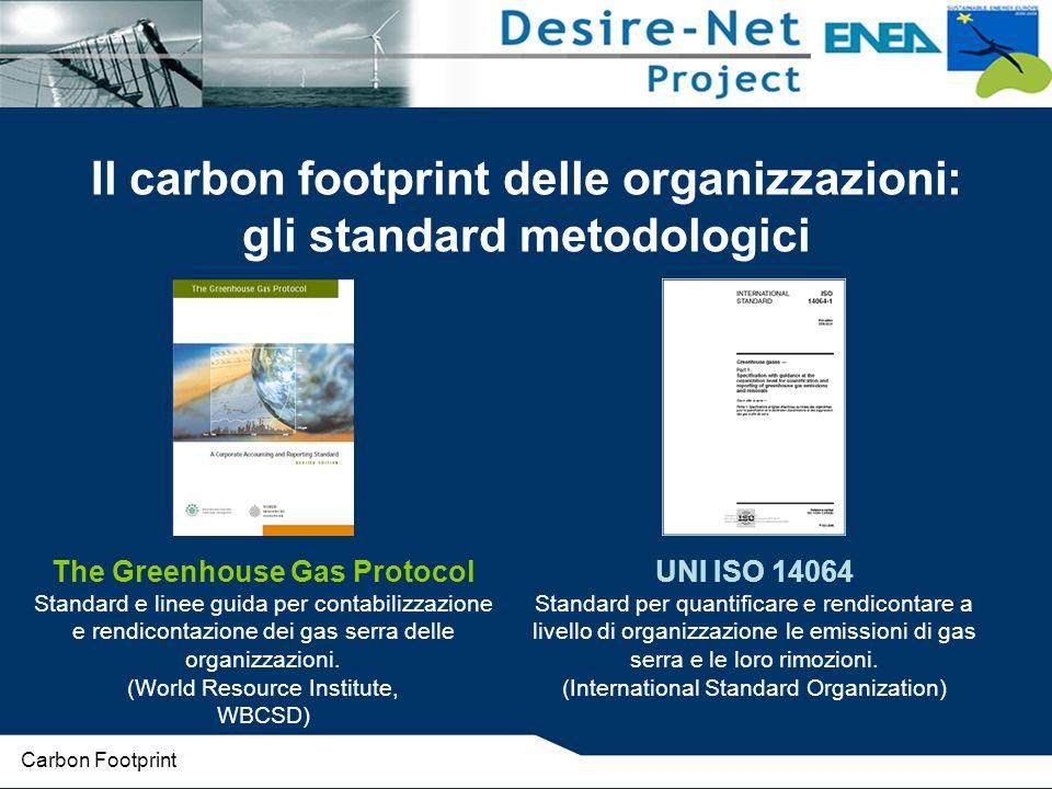 Il carbon footprint delle organizzazioni: gli standard metodologici