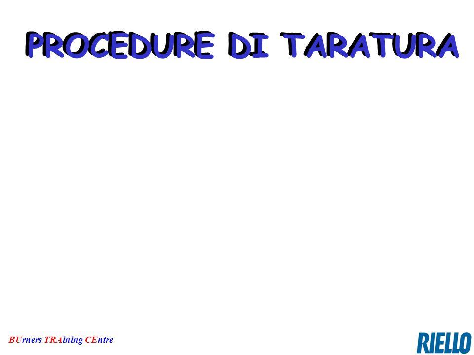 PROCEDURE DI TARATURA PROCEDURE DI TARATURA