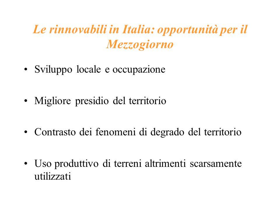 Le rinnovabili in Italia: opportunità per il Mezzogiorno