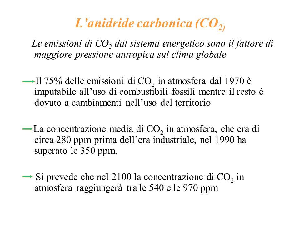 L'anidride carbonica (CO2)
