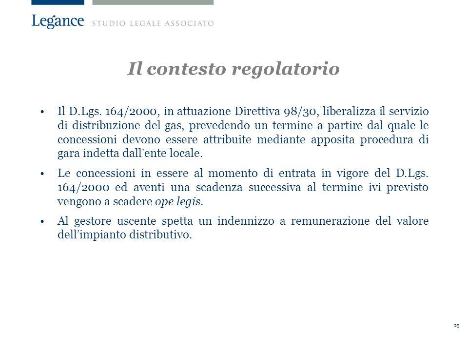 Il contesto regolatorio
