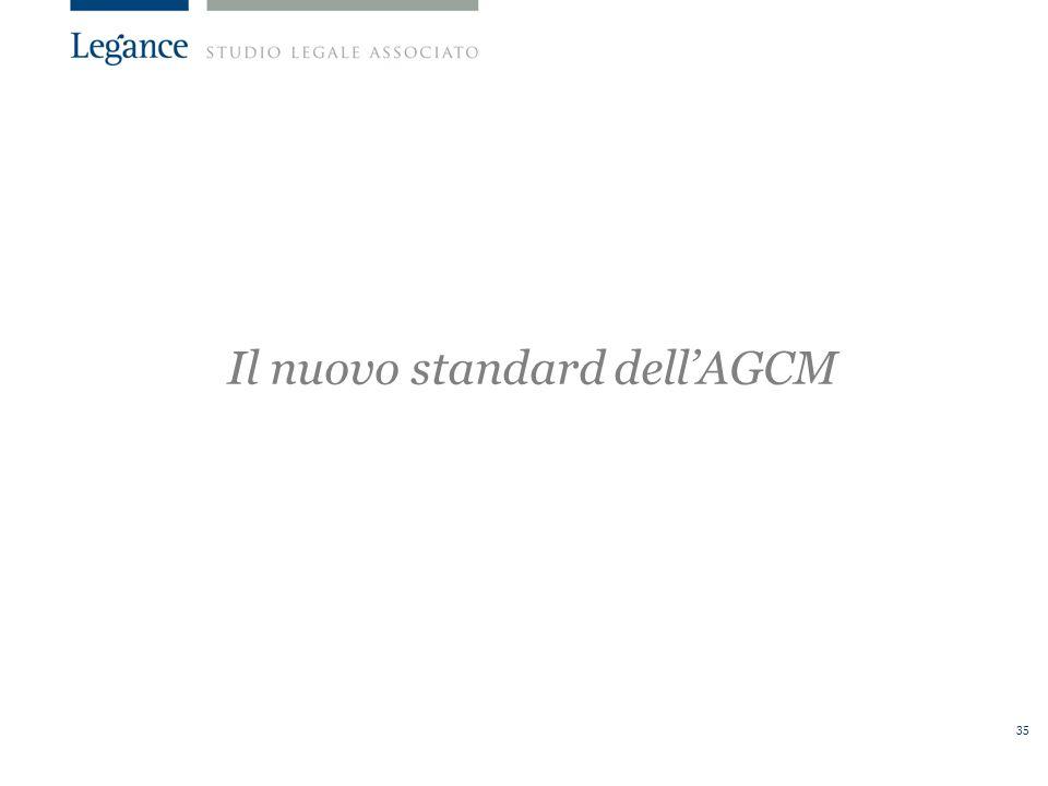 Il nuovo standard dell'AGCM