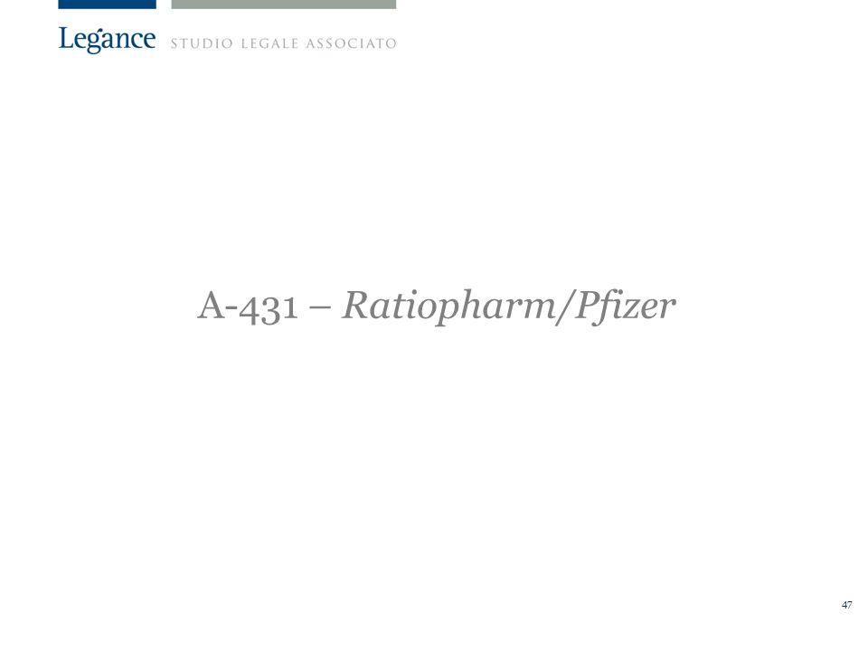 A-431 – Ratiopharm/Pfizer