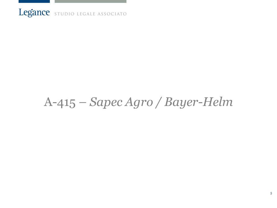 A-415 – Sapec Agro / Bayer-Helm