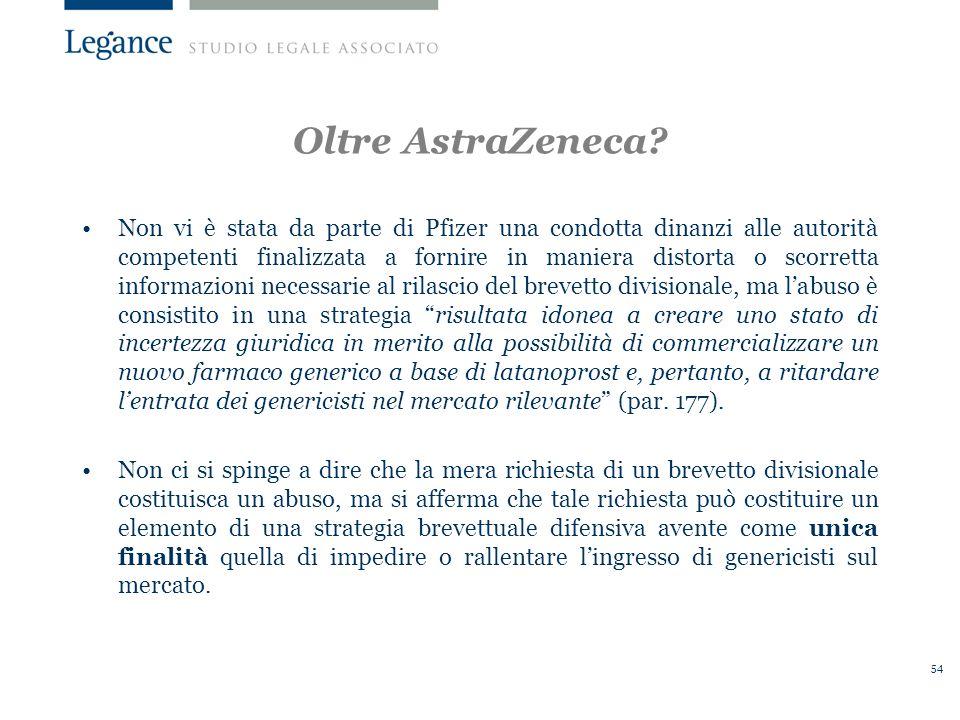 Oltre AstraZeneca