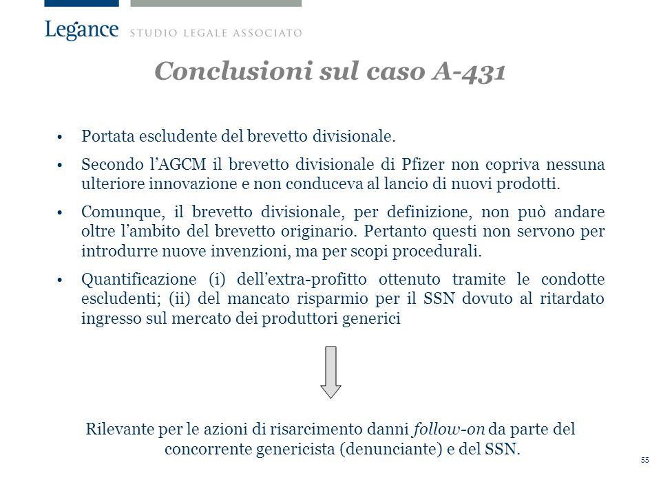 Conclusioni sul caso A-431