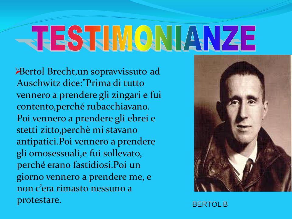 TESTIMONIANZE Bertol Brecht,un sopravvissuto ad