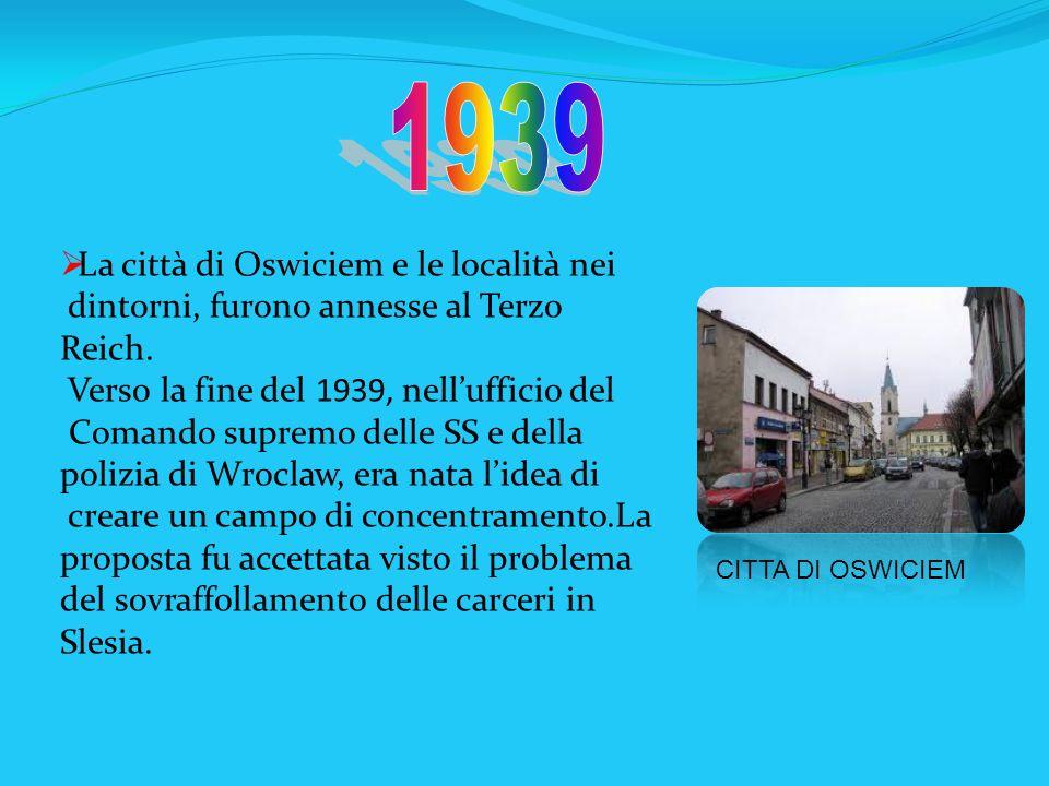 1939 La città di Oswiciem e le località nei