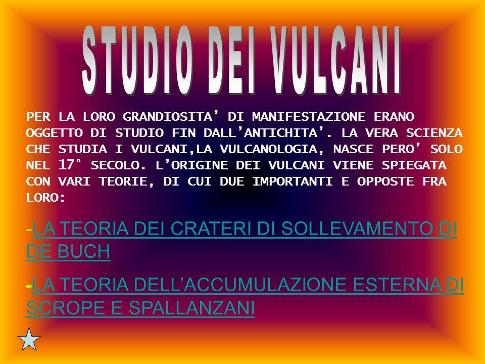 STUDIO DEI VULCANI LA TEORIA DEI CRATERI DI SOLLEVAMENTO DI DE BUCH