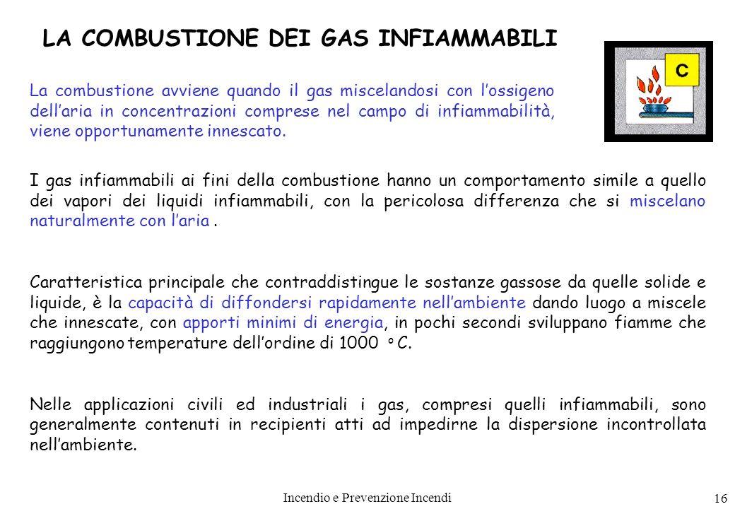 LA COMBUSTIONE DEI GAS INFIAMMABILI