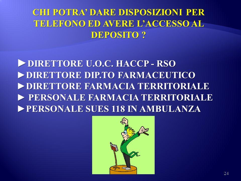 ►DIRETTORE U.O.C. HACCP - RSO