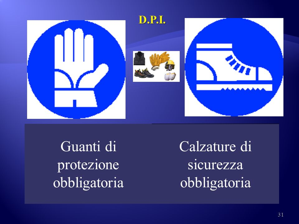 Guanti di protezione obbligatoria Calzature di sicurezza obbligatoria