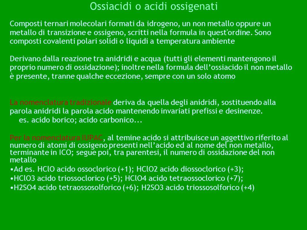Ossiacidi o acidi ossigenati