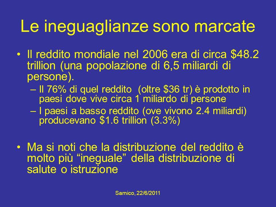 Le ineguaglianze sono marcate