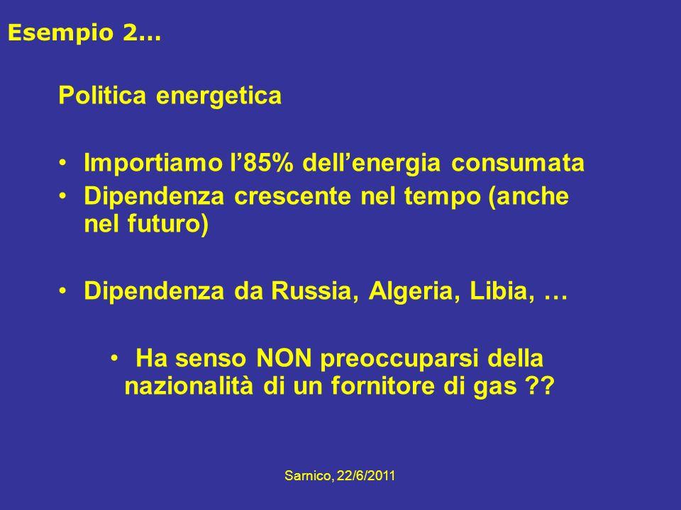 Ha senso NON preoccuparsi della nazionalità di un fornitore di gas