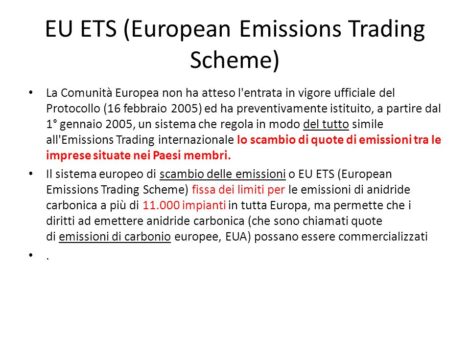 EU ETS (European Emissions Trading Scheme)