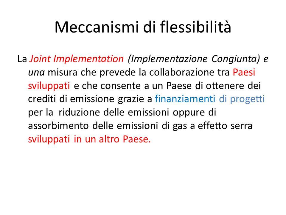Meccanismi di flessibilità