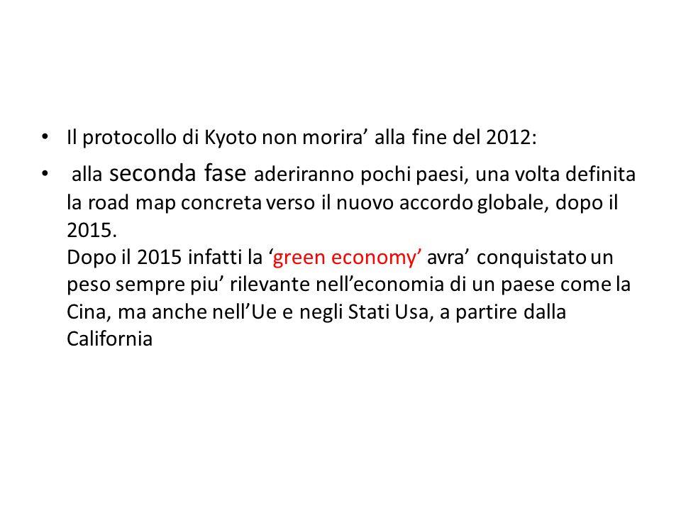 Il protocollo di Kyoto non morira' alla fine del 2012: