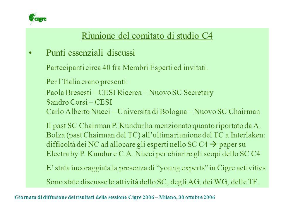 Riunione del comitato di studio C4