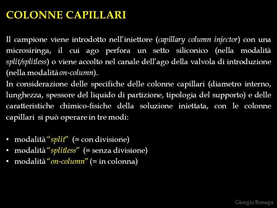 COLONNE CAPILLARI