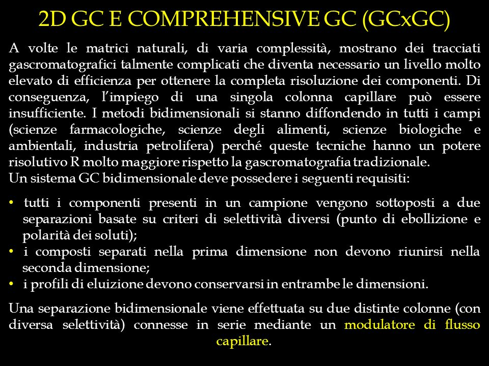2D GC E COMPREHENSIVE GC (GCxGC)