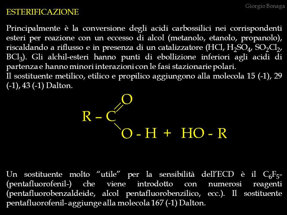 O R – C O - H + HO - R ESTERIFICAZIONE