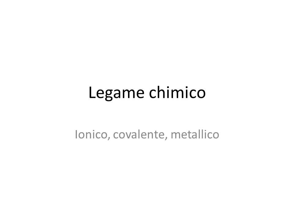 Ionico, covalente, metallico