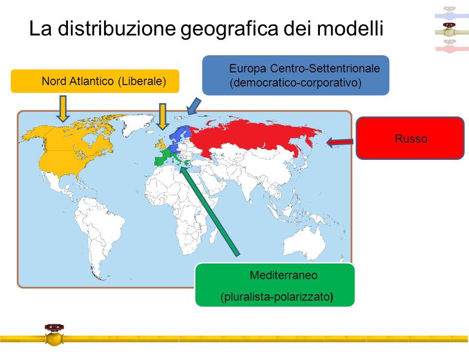 La distribuzione geografica dei modelli