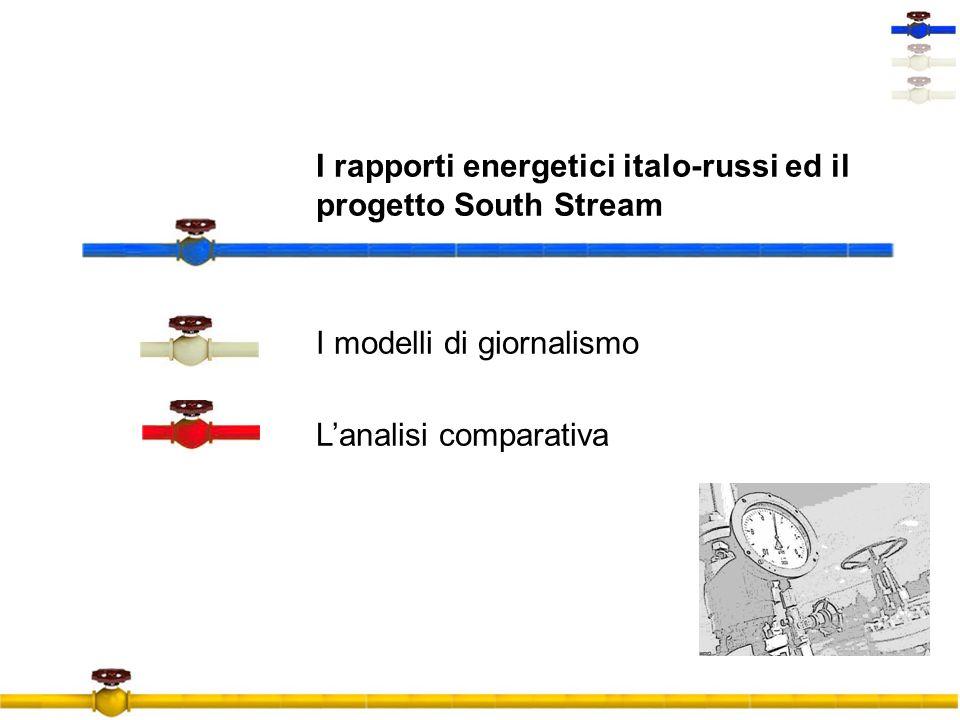 I rapporti energetici italo-russi ed il progetto South Stream I modelli di giornalismo L'analisi comparativa
