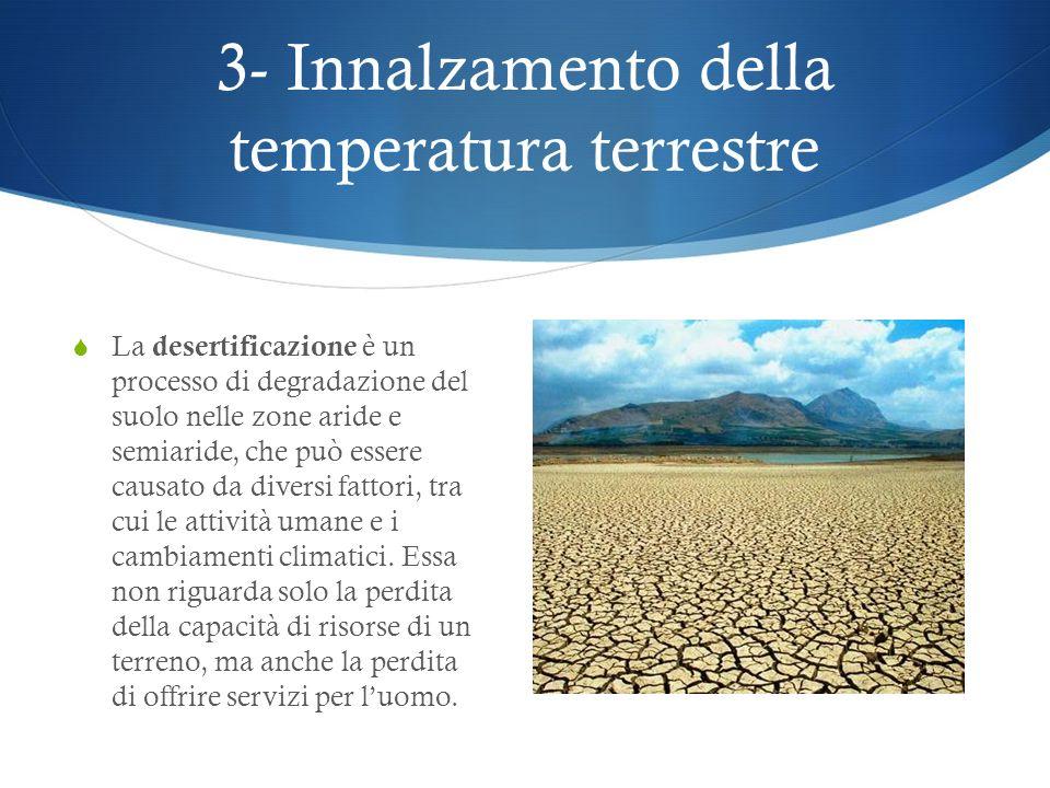 3- Innalzamento della temperatura terrestre
