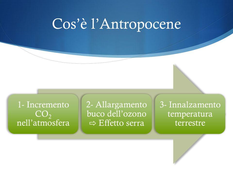 Cos'è l'Antropocene 1- Incremento CO2 nell'atmosfera