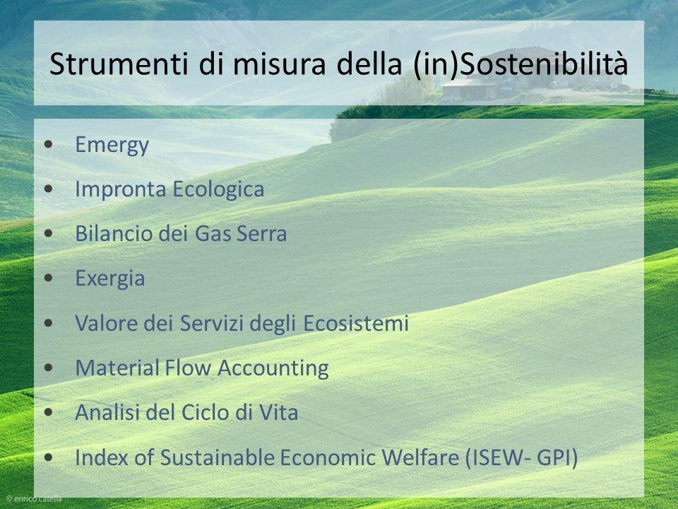 Strumenti di misura della (in)Sostenibilità