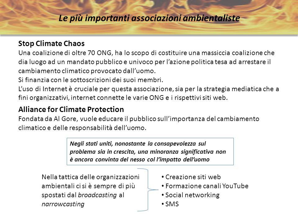 Le più importanti associazioni ambientaliste