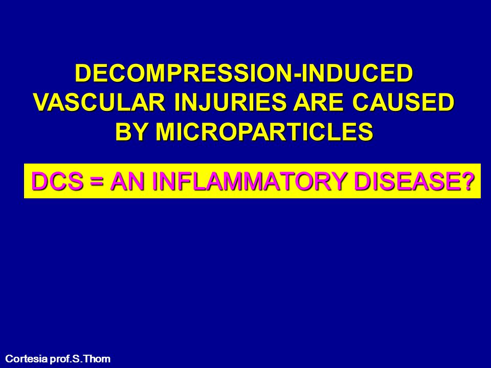 DECOMPRESSION-INDUCED VASCULAR INJURIES ARE CAUSED BY MICROPARTICLES