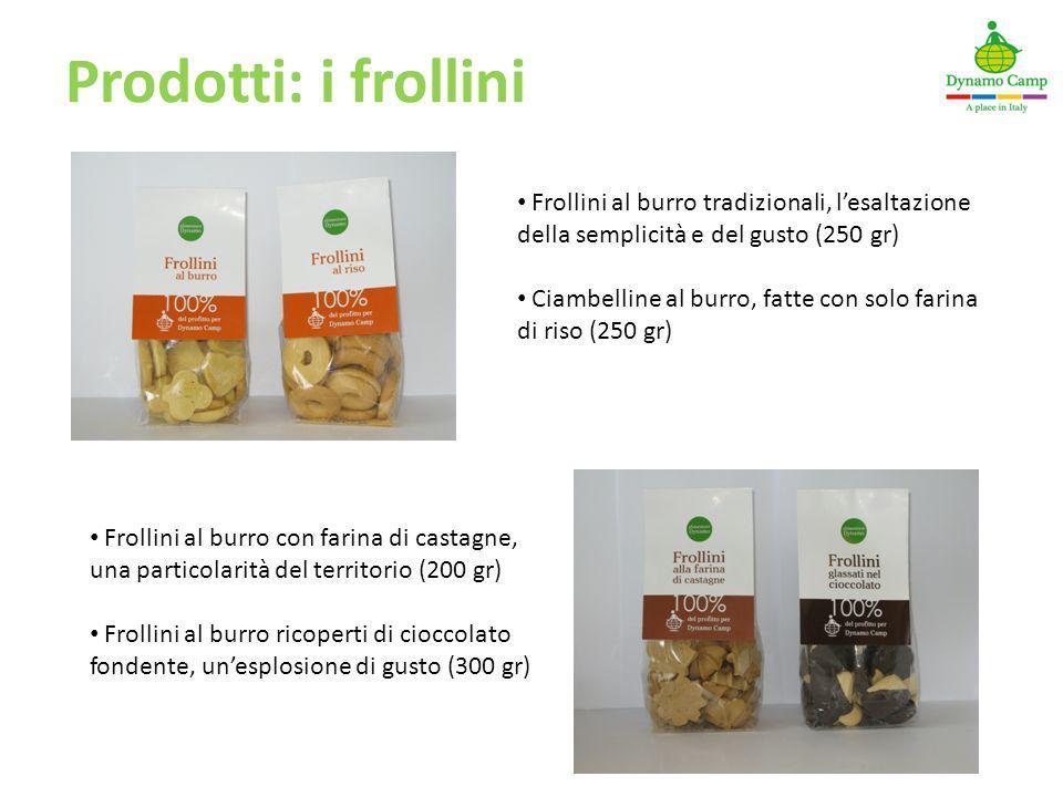Prodotti: i frollini Frollini al burro tradizionali, l'esaltazione della semplicità e del gusto (250 gr)