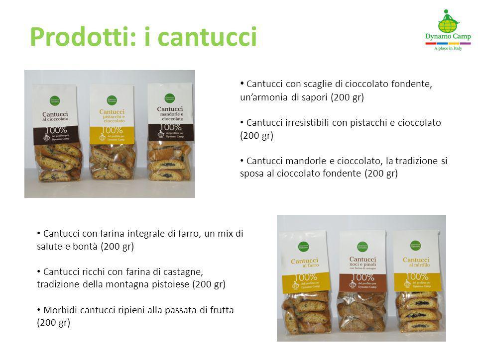 Prodotti: i cantucci Cantucci con scaglie di cioccolato fondente, un'armonia di sapori (200 gr)