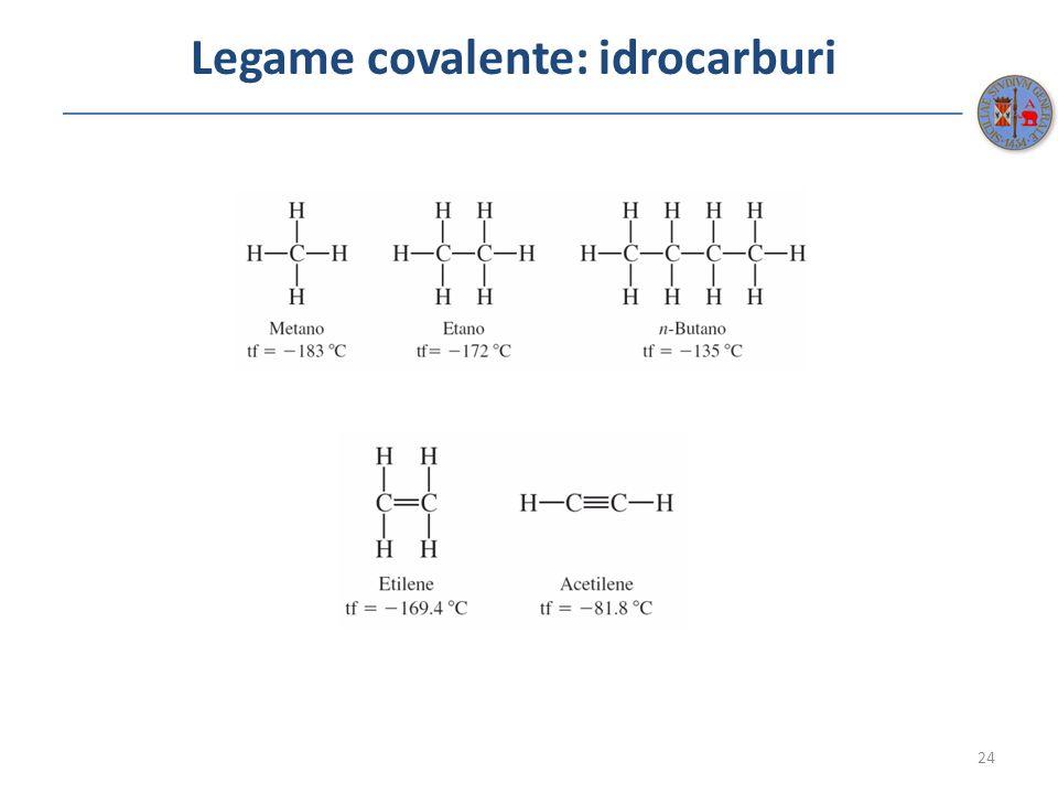 Legame covalente: idrocarburi