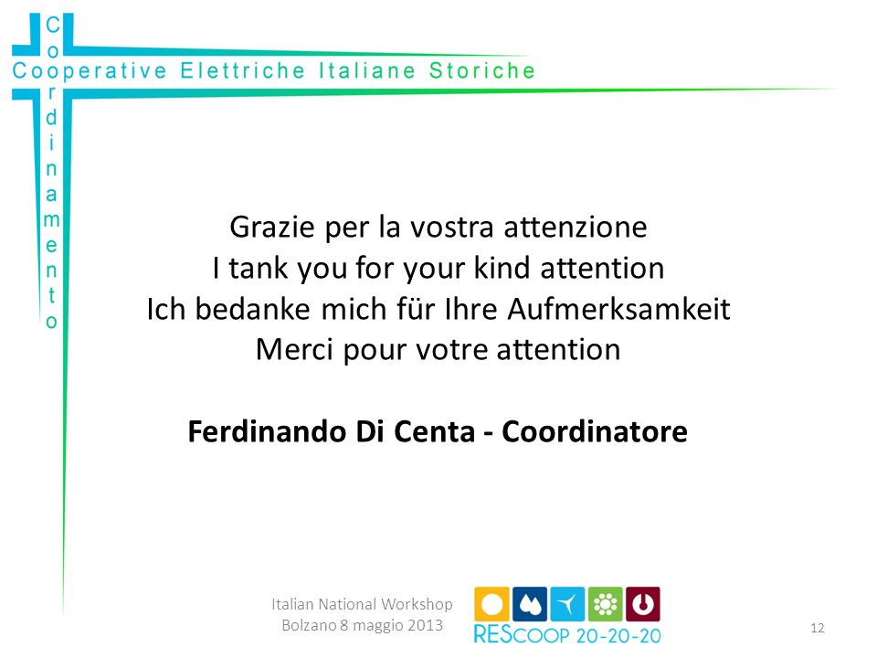 Ferdinando Di Centa - Coordinatore