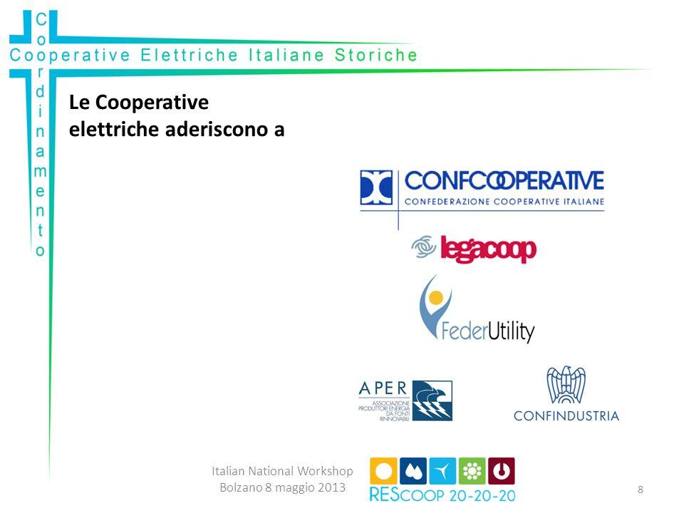 Le Cooperative elettriche aderiscono a