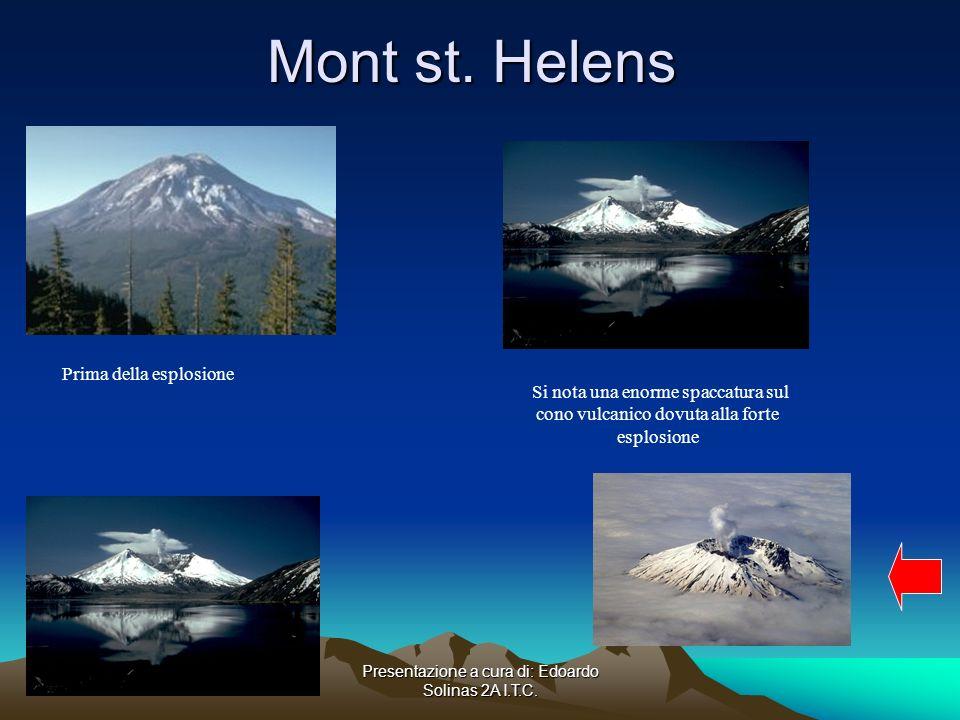 Mont st. Helens Prima della esplosione.
