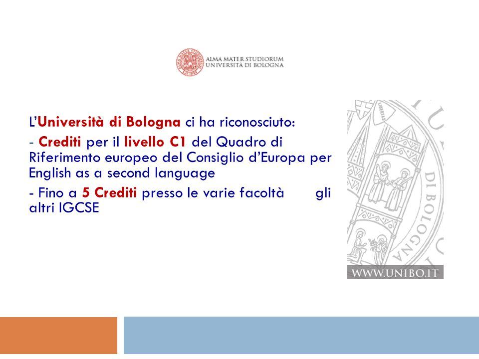 L'Università di Bologna ci ha riconosciuto: