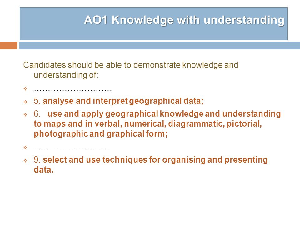 AO1 Knowledge with understanding