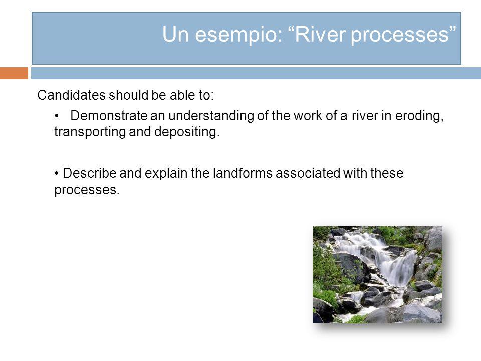 Un esempio: River processes
