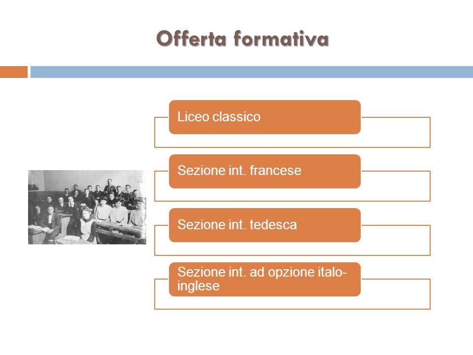 Offerta formativa Liceo classico Sezione int. francese